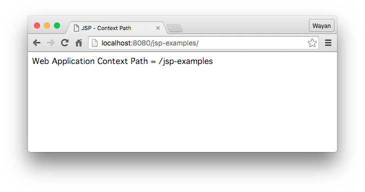 Web Application Context Path