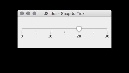 JSlider Snap to Tick