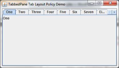 Tabbed Pane Tab Layout Policy
