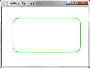 Draw Round Rectangle Demo