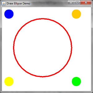 Draw Ellipse Demo