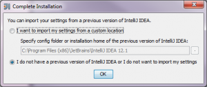 Installation Complete Screen