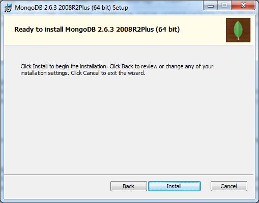 Ready To Install MongoDB